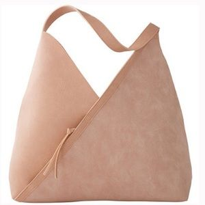 NWT Ulta Faux Leather Suede Oversized Pink Tote